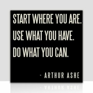 blog april start where you are do what you can