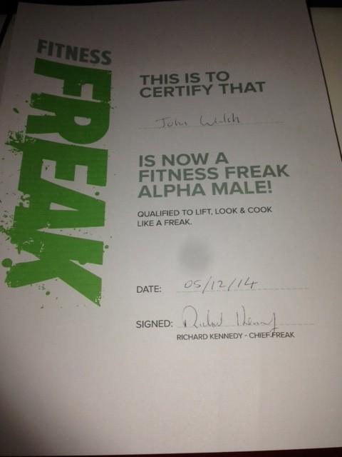 Fitness Freak Certified